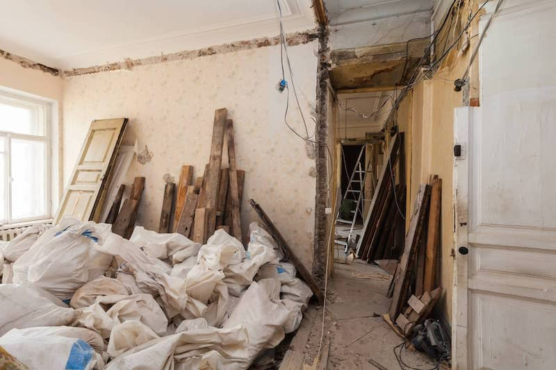 Renovation debris removal in Wyckoff