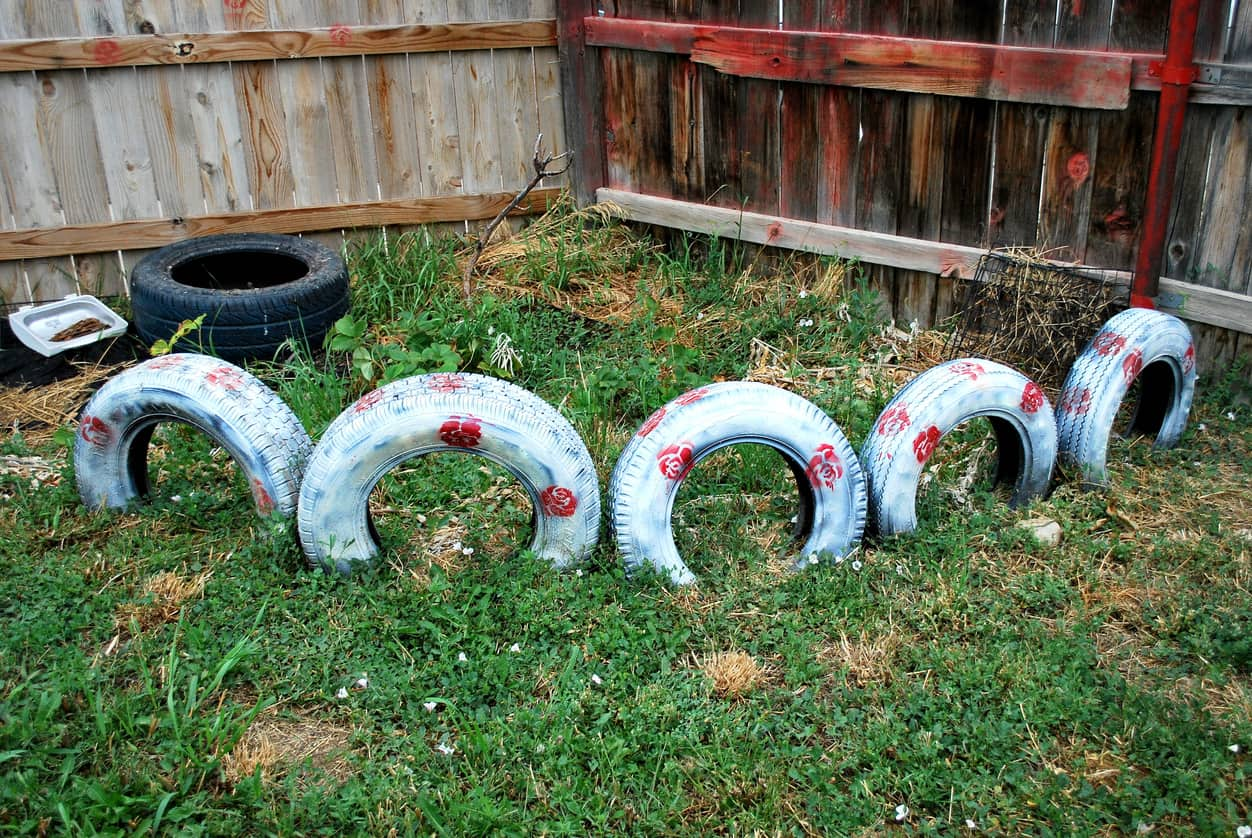 Tire recycling in West New York