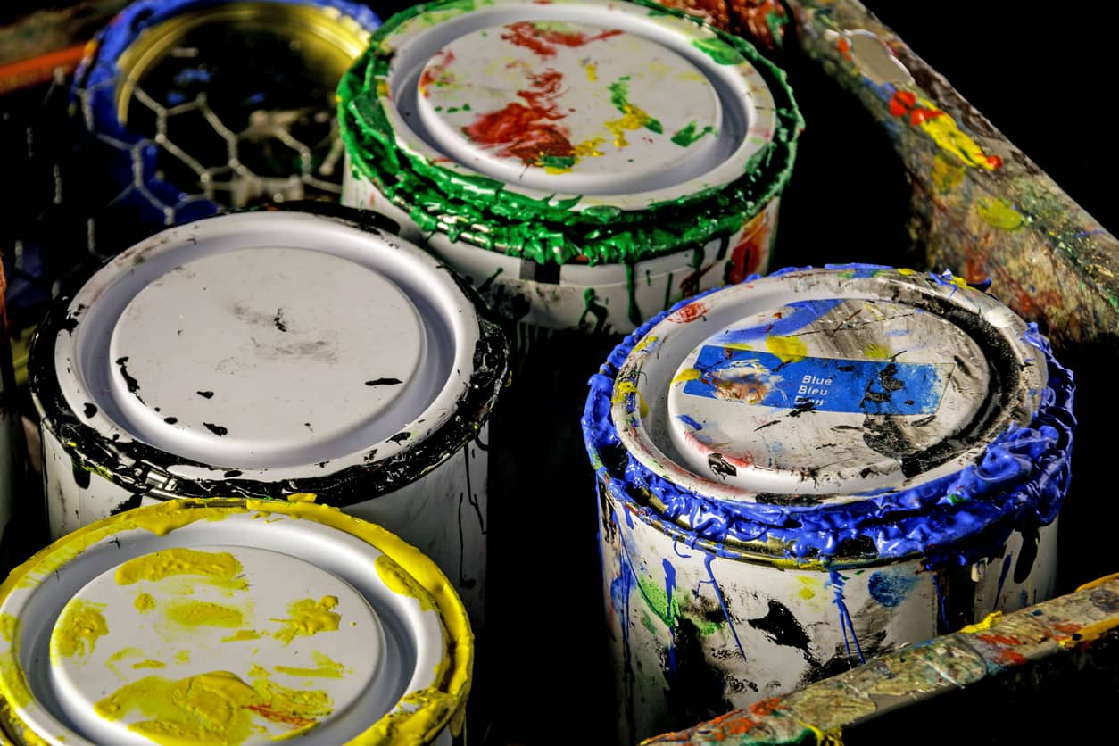 Paint can disposal removal in Livingston