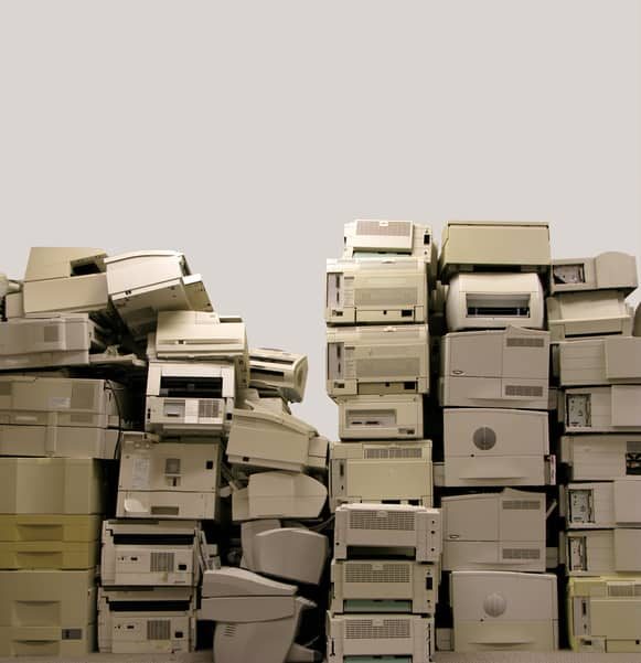 Printer recycling in East Newark
